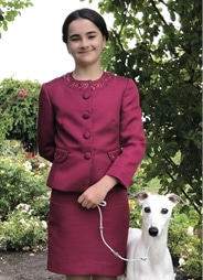 Junior Handlers Picture Of A Girl With Her Purebred Dog