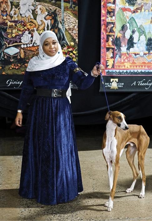 Aliya Taylor with Azawakh Dog