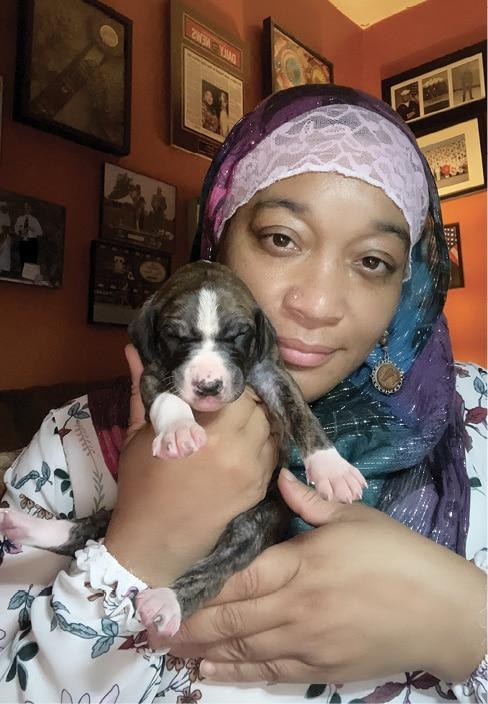 Aliya Taylor with Azawakh Puppy