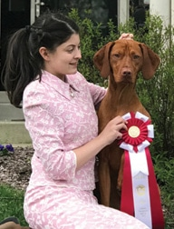 Junior Handlers Picture Of A Girl With Her Dog