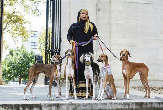 Aliya Taylor with her dogs